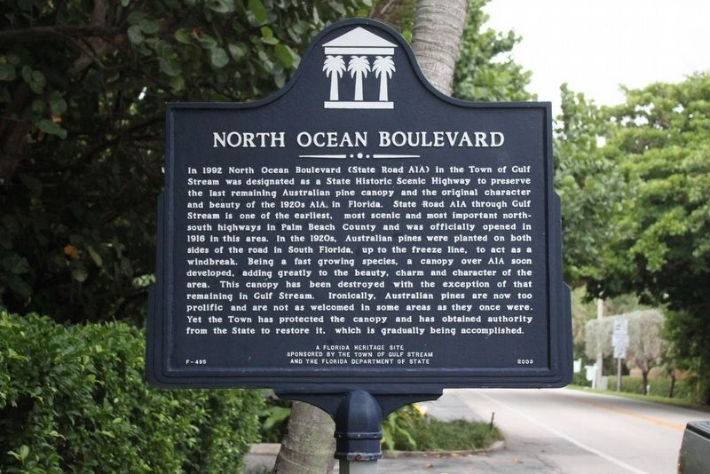 North Ocean Boulevard Marker image. Click for full size.