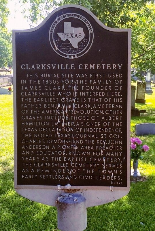 Clarksville Cemetery Marker image. Click for full size.
