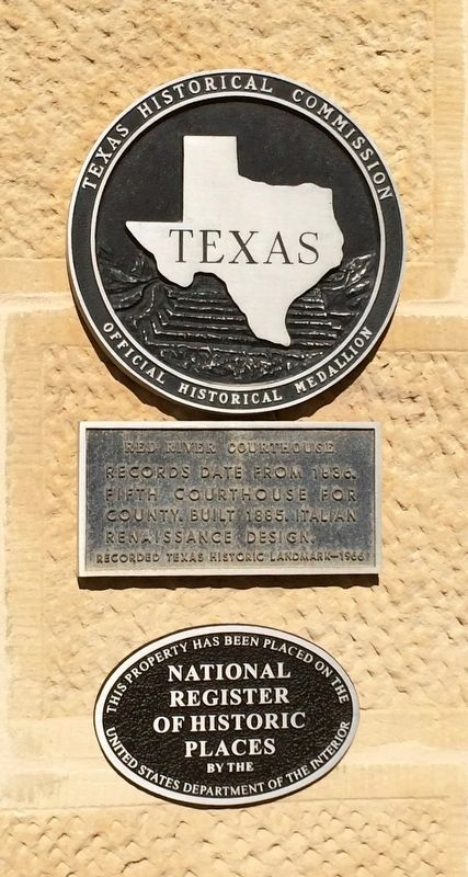 Red River Courthouse Marker image. Click for full size.