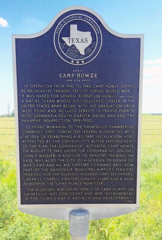 Site of Camp Howze Marker image. Click for full size.