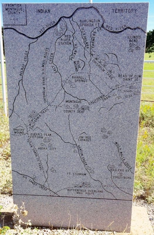 Frontier Montague County Trails & Mail Routes Map (Side 2) image. Click for full size.