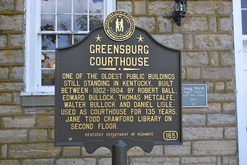 Greensburg Courthouse Marker image. Click for full size.