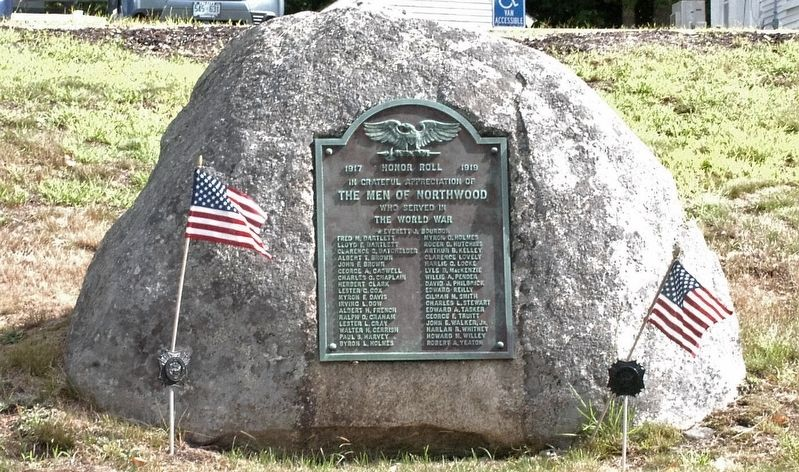 Northwood NH WWI Honor Roll Marker image. Click for full size.