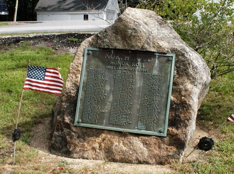 Northwood NH WWII Honor Roll Marker image. Click for full size.