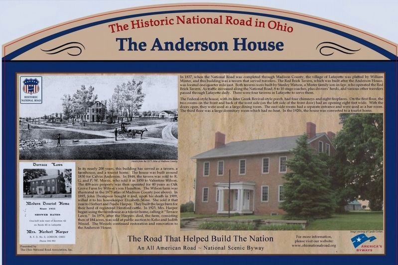 The Anderson House Marker image. Click for full size.
