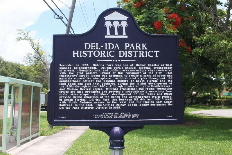 Del-Ida Park Historic District Marker image. Click for full size.