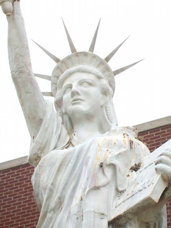 Replica of the Statue of Liberty Detail image. Click for full size.