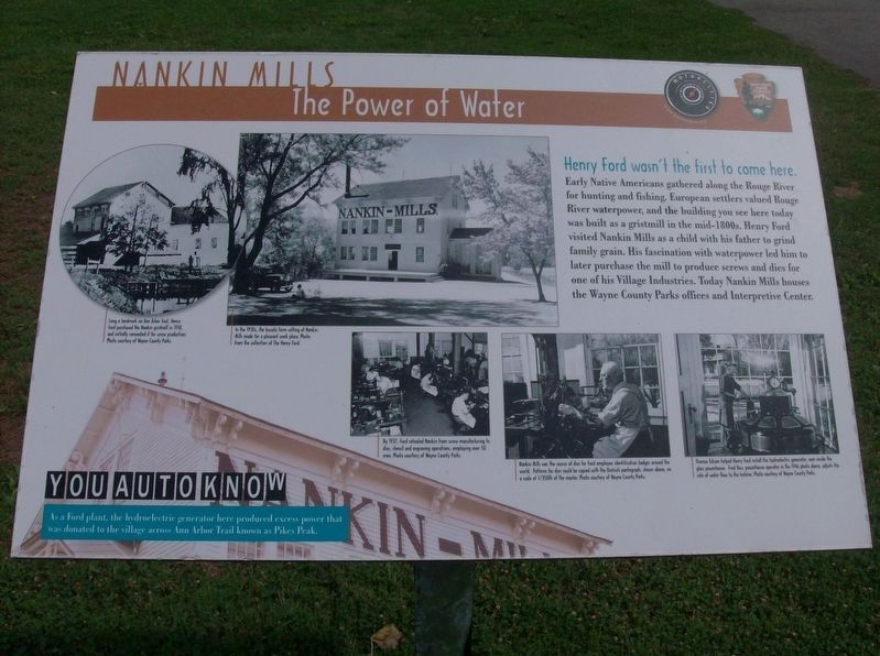Nankin Mills: The Power of Water Marker image. Click for full size.