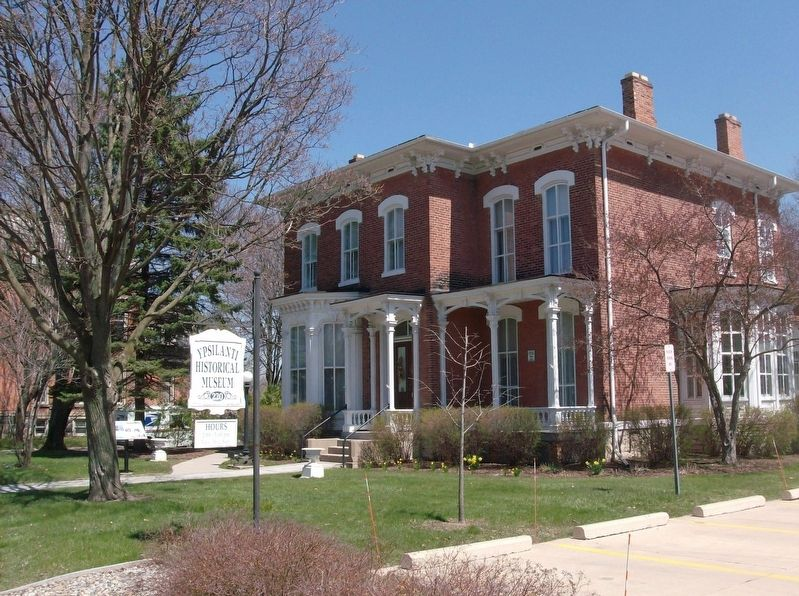 220 N. Huron Marker and Ypsilanti Historical Museum & Archives image. Click for full size.