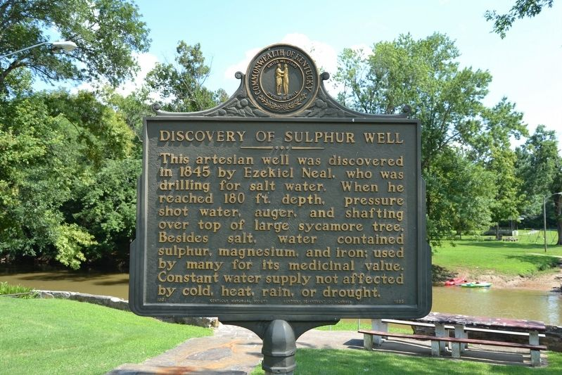 Discovery of Sulphur Well / Beula Villa Hotel Marker image. Click for full size.