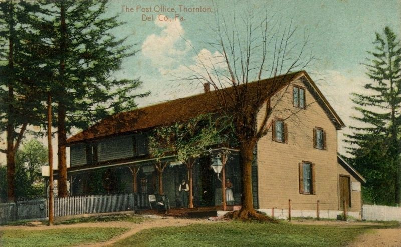 1900's Post Card of Yellow House as the Post Office image. Click for full size.