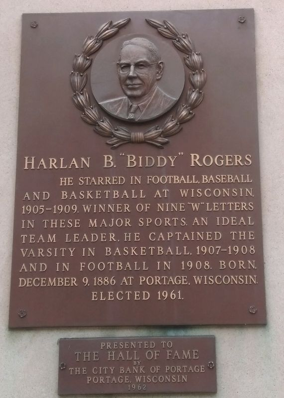 "Harlan B. ""Biddy"" Rogers Marker image. Click for full size."