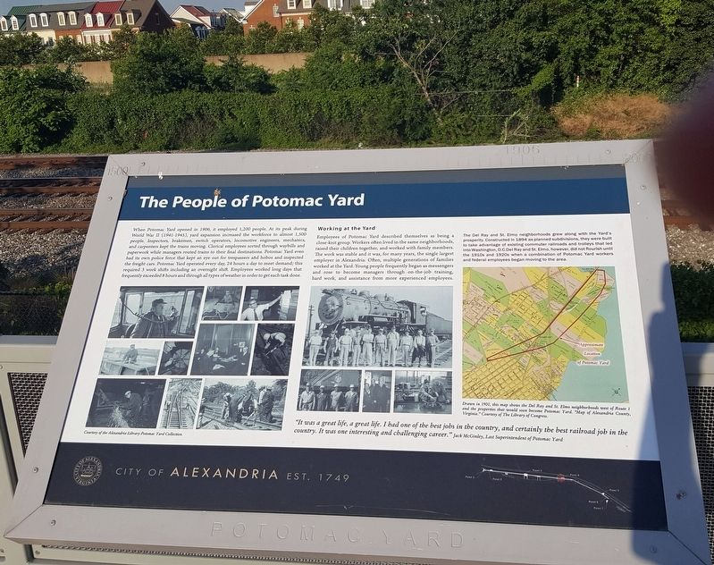 The People of Potomac Yard Marker image. Click for full size.