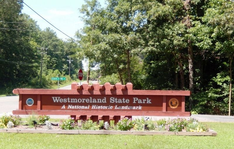 Sign at the entrance to Westmoreland State Park image. Click for full size.