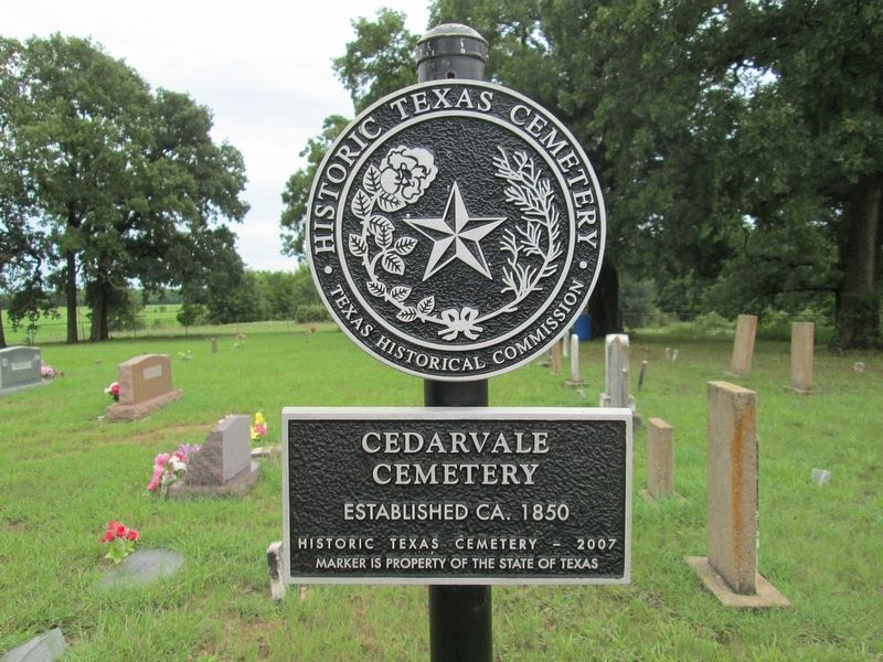 Cedarvale Cemetery Marker image. Click for full size.