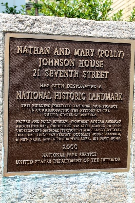 Nathan and Mary (Polly) Johnson House Marker image. Click for full size.