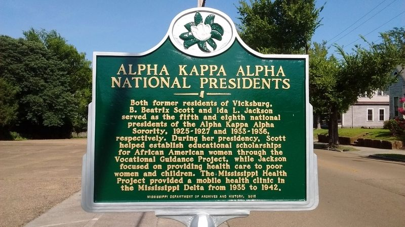 Alpha Kappa Alpha National Presidents Marker image. Click for full size.