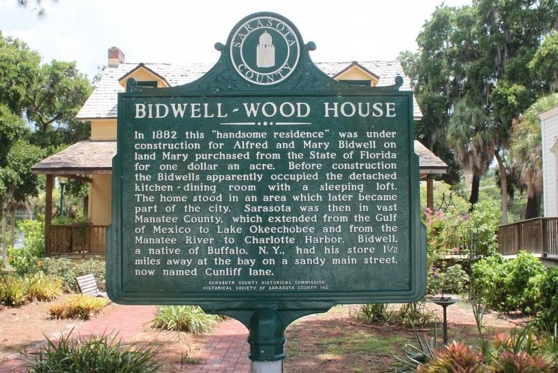 Bidwell-Wood House Marker-Side 1 image. Click for full size.