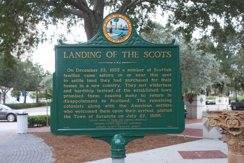 Landing of the Scots Marker image. Click for full size.