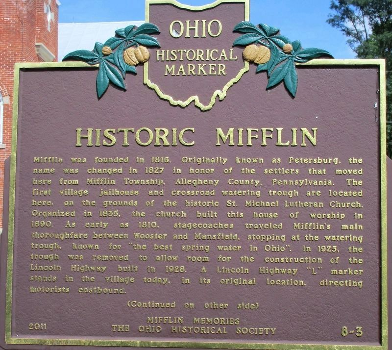 Historic Mifflin Marker image. Click for full size.