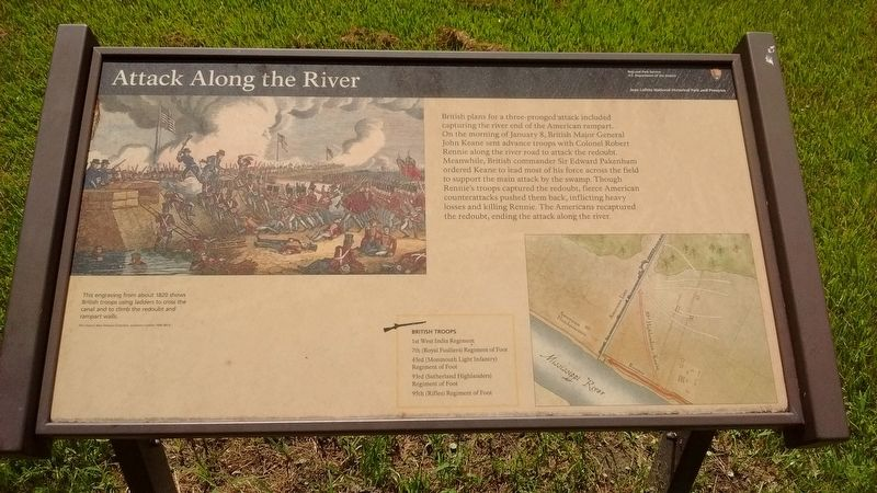 Attack Along the River Marker image. Click for full size.