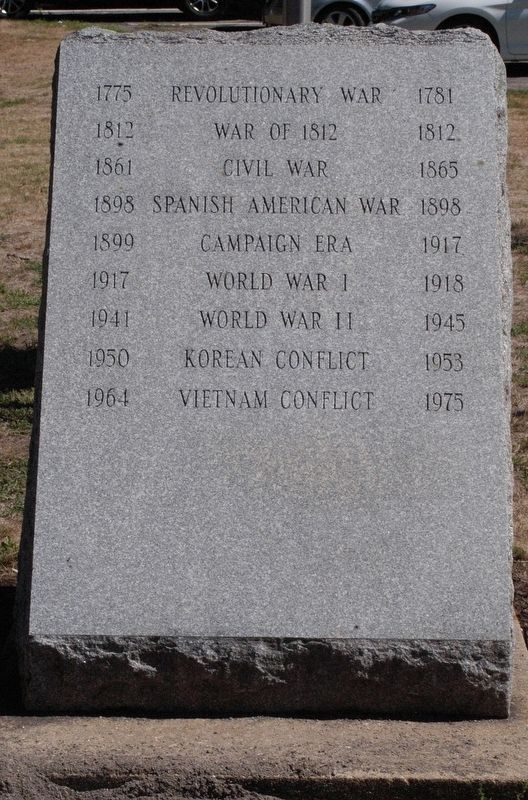 Ipswich Massachusetts War Memorial Marker image. Click for full size.