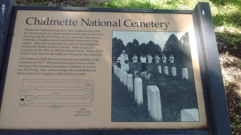 Chalmette National Cemetery Marker image. Click for full size.