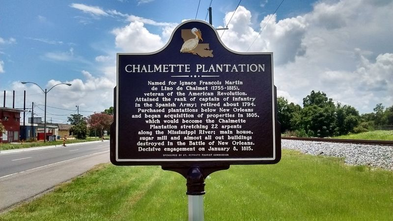 Chalmette Plantation Marker image. Click for full size.