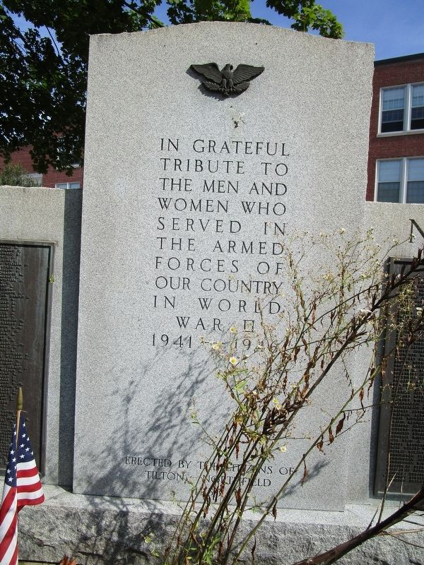 Tilton WWII Memorial image. Click for full size.
