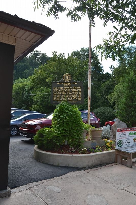 Prestonsburg Toll Bridge Side of Marker image. Click for full size.