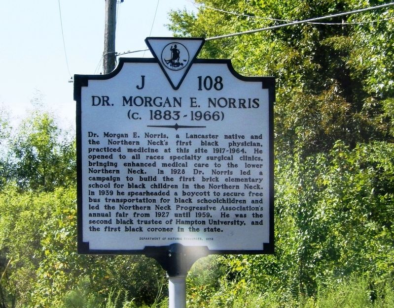 Dr. Morgan E. Norris Marker image. Click for full size.