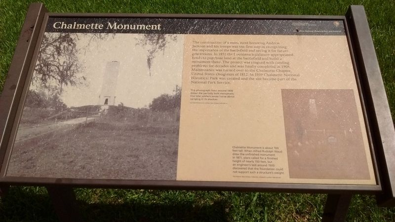 Chalmette Monument Marker image. Click for full size.