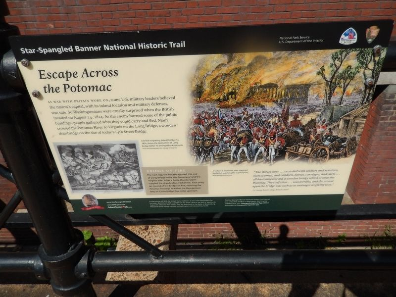 Escape Across the Potomac Marker image. Click for full size.