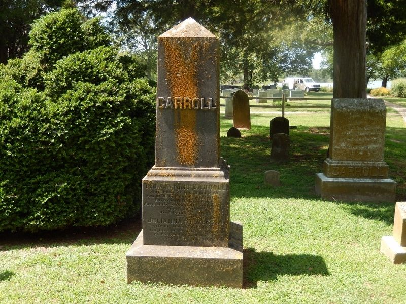 Governor Thomas King Carroll Gravestone image. Click for full size.