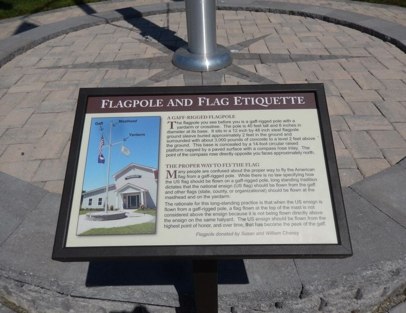 Flagpole and Flag Etiquette Marker image. Click for full size.