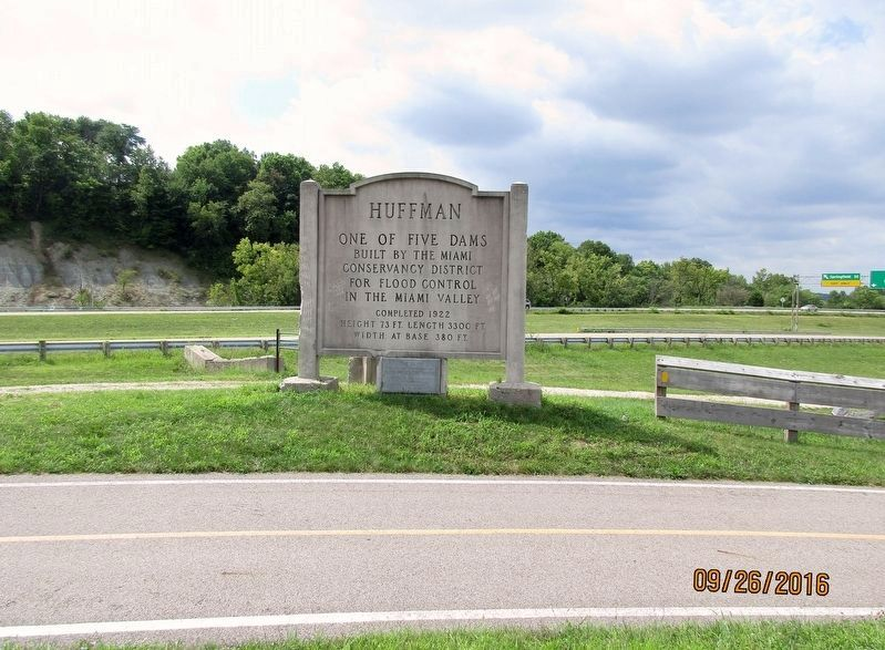 Huffman Dam Marker image. Click for full size.