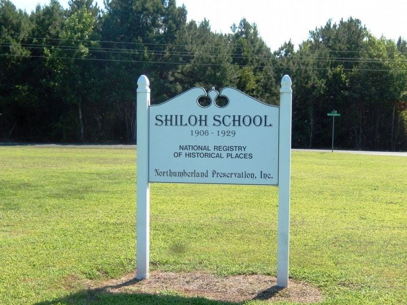 Shiloh School Marker image. Click for full size.