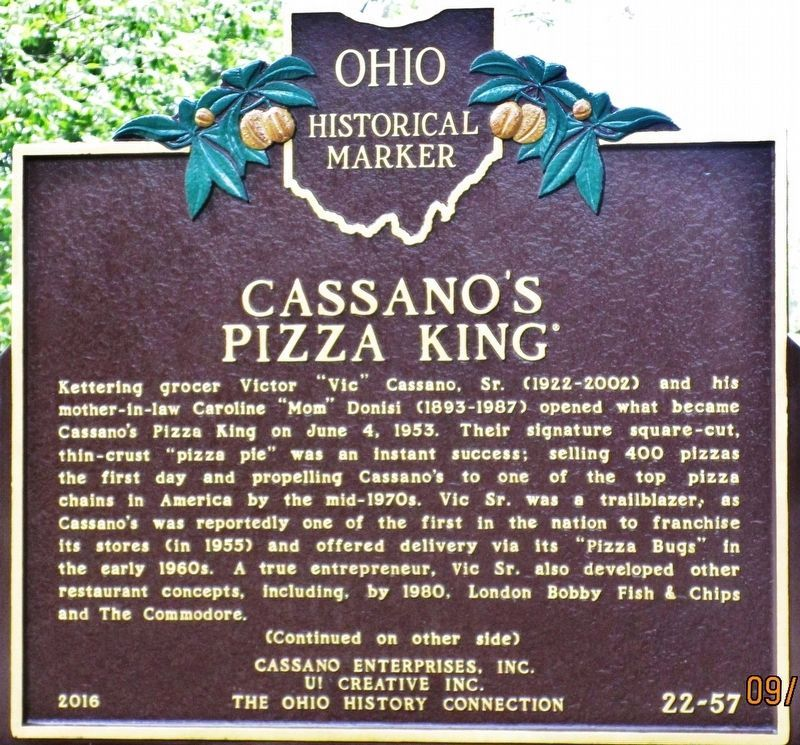 Cassano�s Pizza King Marker image. Click for full size.
