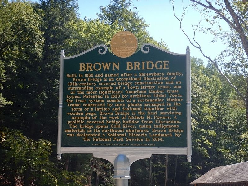 Brown Bridge Marker image. Click for full size.