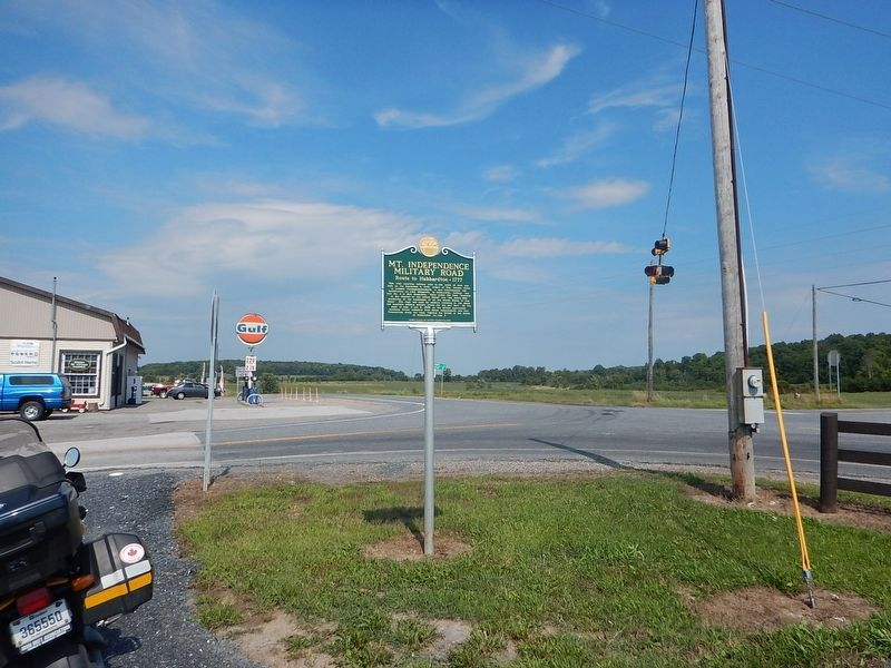 Wideview of Mt. Independence Military Road Marker image. Click for full size.