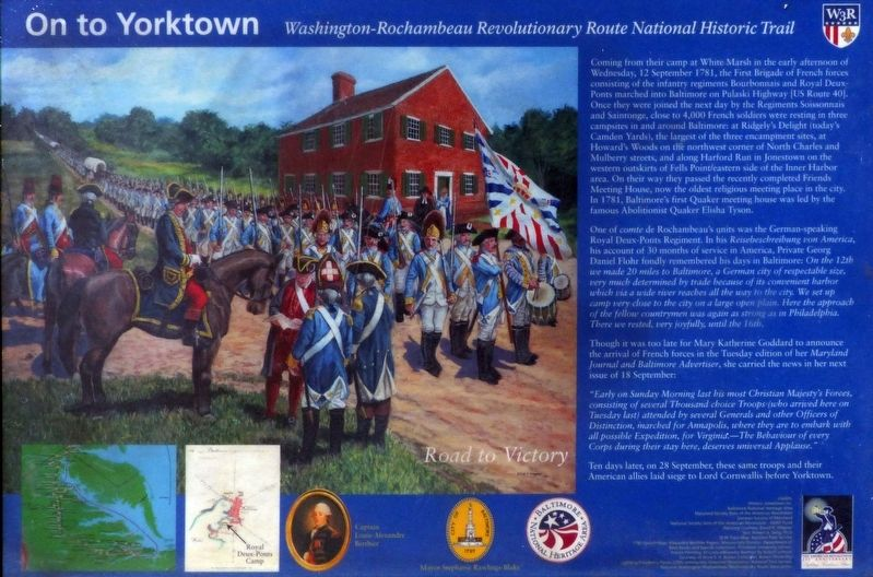 On to Yorktown Marker image. Click for full size.