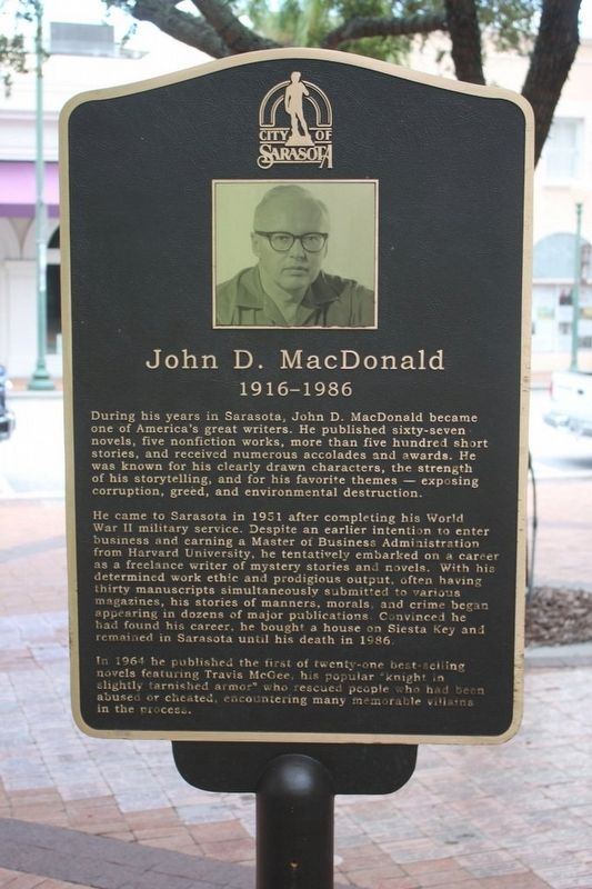 John D. MacDonald 1916-1986 image. Click for full size.