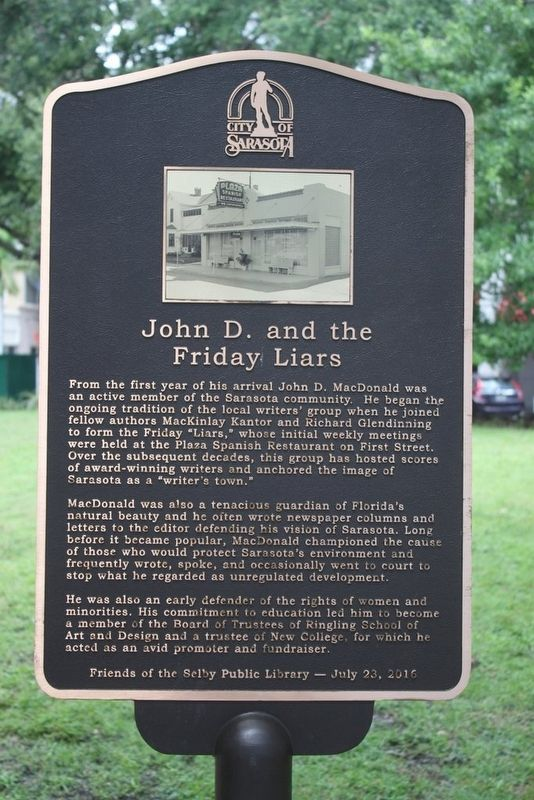 John D. and the Friday Liars Marker image. Click for full size.