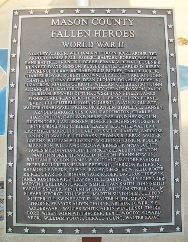 Mason County Veterans Memorial Roll of Honored Dead image. Click for full size.