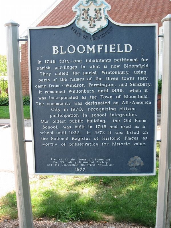 Bloomfield Marker image. Click for full size.