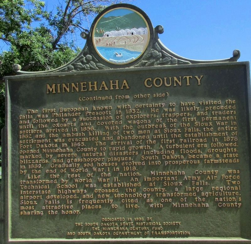 Minnehaha County Marker image. Click for full size.