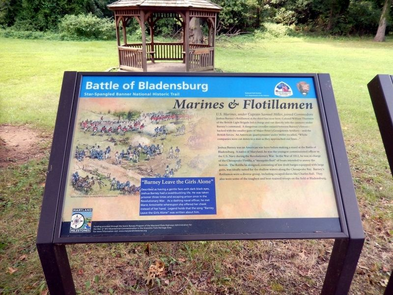 Battle of Bladensburg Marker image. Click for full size.