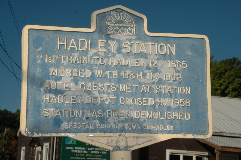 Hadley Station Marker image. Click for full size.