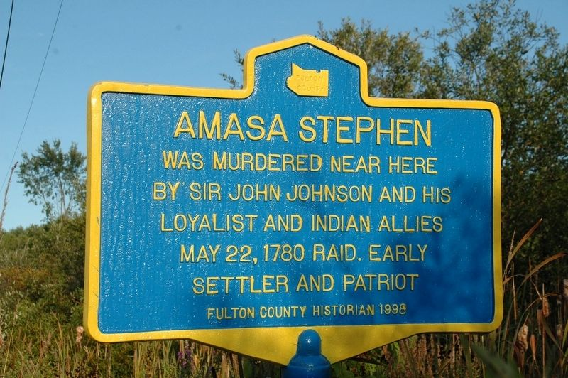 Amasa Stephen Marker image. Click for full size.