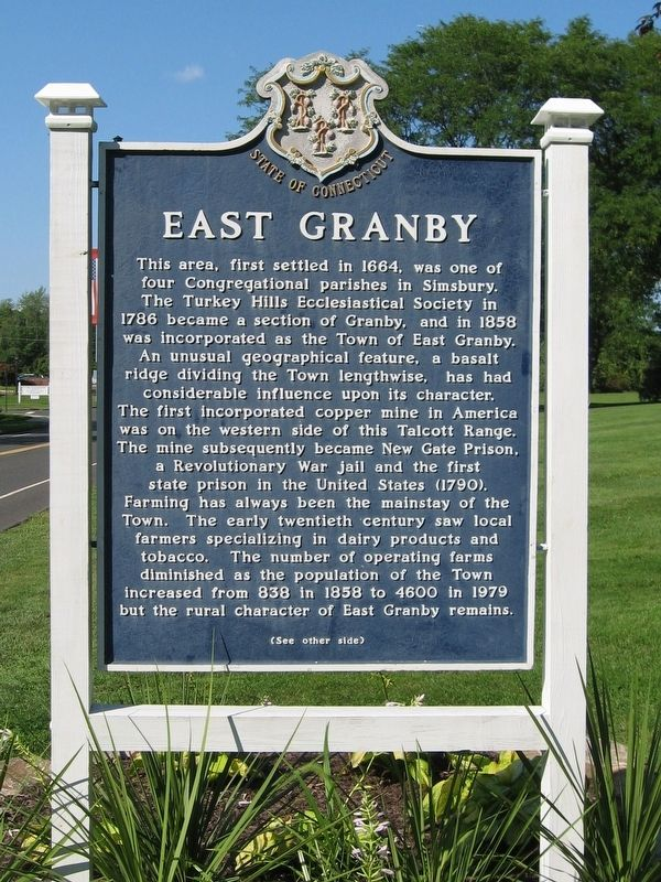 East Granby Marker image. Click for full size.
